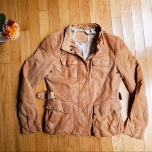 Banana republic premium safari leather jacket